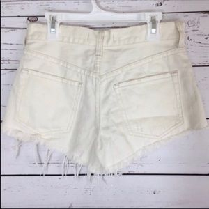 Free People Shorts - NWT Free People worn white cutoff jean shorts 24
